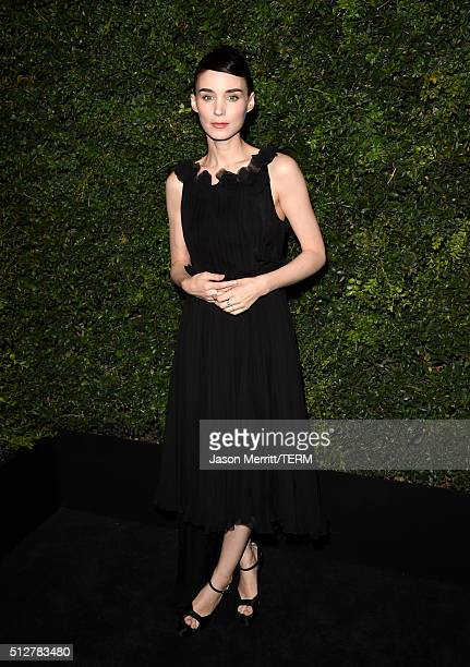 Actress Rooney Mara attends the Charles Finch and Chanel PreOscar Awards Dinner at Madeo Restaurant on February 27 2016 in Los Angeles California