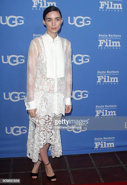 Actress Rooney Mara attends the Cinema Vanguard Award at the Arlington Theater during the 31st Santa Barbara International Film Festival on February...