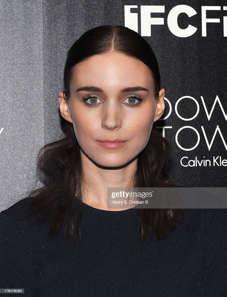 Actress Rooney Mara attends the Downtown Calvin Klein with The Cinema Society screening of IFC Films' 'Ain't Them Bodies Saints' at Museum of Modern Art on August 13, 2013 in New York City.