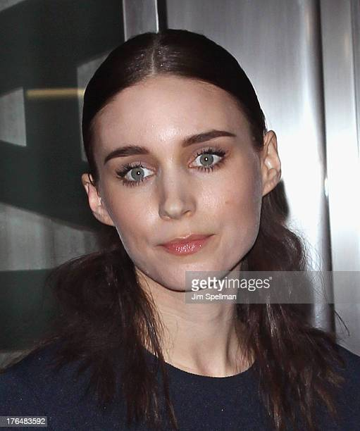 Actress Rooney Mara attends the Downtown Calvin Klein with The Cinema Society screening of IFC Films' 'Ain't Them Bodies Saints' at Museum of Modern...