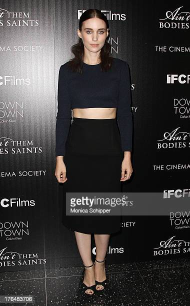 Actress Rooney Mara attends the Downtown Calvin Klein with The Cinema Society screening of IFC Films' Ain't Them Bodies Saints at The Museum of...