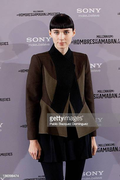 Actress Rooney Mara attends 'The Girl With The Dragon Tatoo' Photocall at Villamagna Hotel on January 4 2012 in Madrid Spain