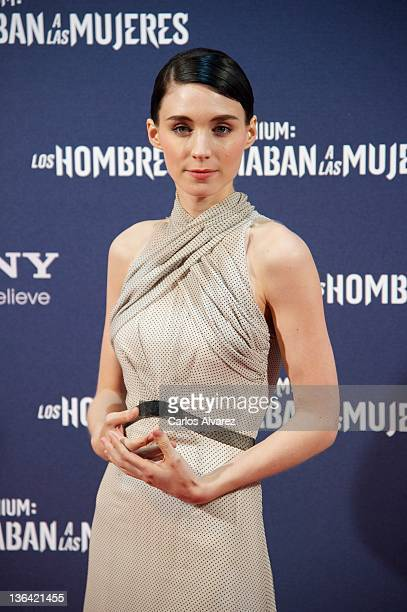 Actress Rooney Mara attends 'The Girl With The Dragon Tattoo' premiere at Callao cinema on January 4 2012 in Madrid Spain