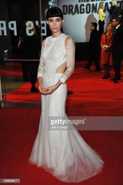 Actress Rooney Mara attends The Girl With The Dragon Tattoo world premiere at Odeon Leicester Square on December 12 2011 in London England