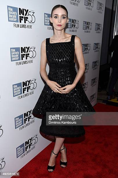Actress Rooney Mara attends the premiere of 'Carol' during the 53rd New York Film Festival at Alice Tully Hall Lincoln Center on October 9 2015 in...