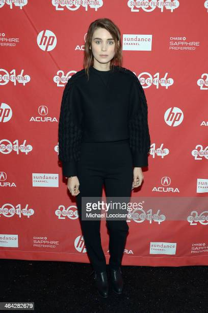 Actress Rooney Mara attends the premiere of 'The One I Love' at The Marc Theatre during the 2014 Sundance Film Festival on January 21 2014 in Park...
