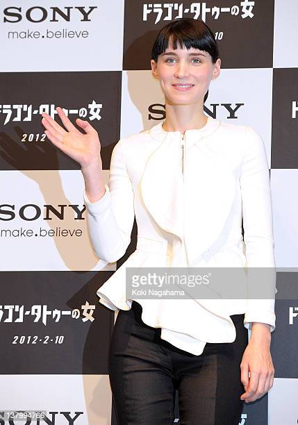 Actress Rooney Mara attends the 'The Girl with the Dragon Tattoo' press conference at Tokyo Midtown on January 31 2012 in Tokyo Japan The film will...