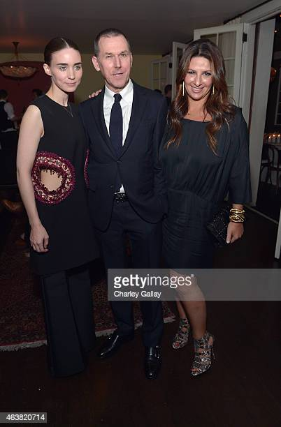 Actress Rooney Mara CEO of Barneys New York Mark Lee and Barneys NY EVP Marketing and Communications Charlotte Blechman attend VANITY FAIR and...
