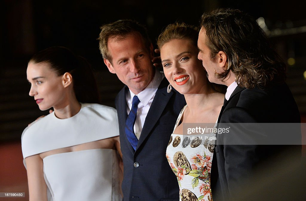 Actress Rooney Mara, director Spike Jonze and actors Joaquin Phoenix and Scarlett Johansson attend 'Her' Premiere during The 8th Rome Film Festival at Auditorium Parco Della Musica on November 10, 2013 in Rome, Italy.