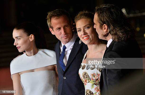 Actress Rooney Mara director Spike Jonze and actors Joaquin Phoenix and Scarlett Johansson attend 'Her' Premiere during The 8th Rome Film Festival at...