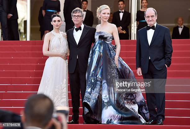 actress Rooney Mara director Todd Haynes Actress Cate Blanchett and Pierre Lescure attend the 'Carol' Premiere during the 68th annual Cannes Film...