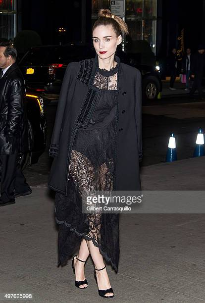 Actress Rooney Mara is seen arriving at The Museum of Modern Art's 8th Annual Film Benefit honoring Cate Blanchett at The Museum of Modern Art on...