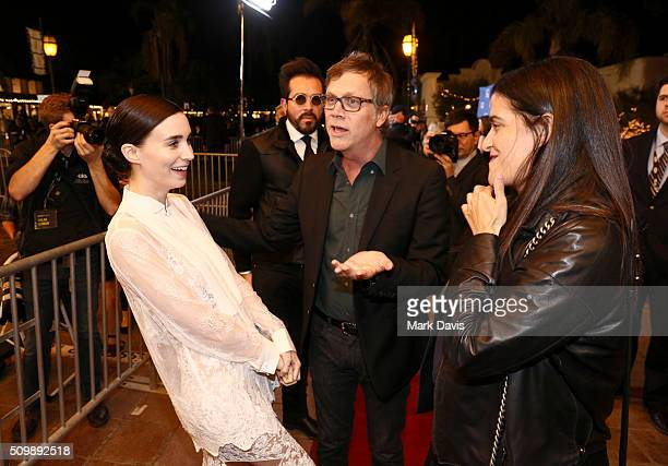 Actress Rooney Mara SBIFF Director Roger Durling and Director Todd Haynes attend the Cinema Vanguard Award at the Arlington Theater during the 31st...