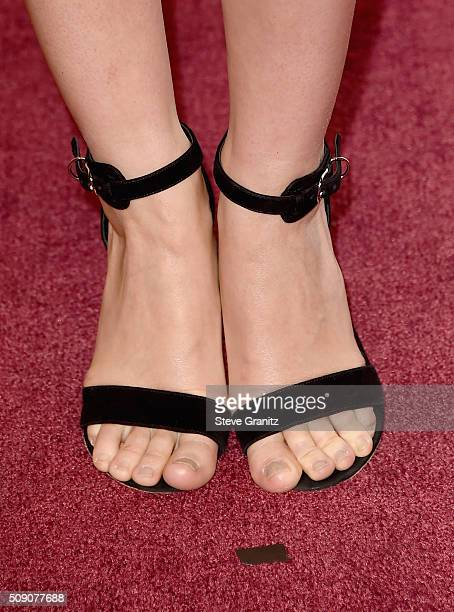 Actress Rooney Mara shoe and pedicure details attends the 88th Annual Academy Awards nominee luncheon on February 8 2016 in Beverly Hills California