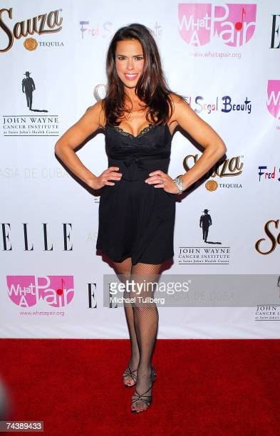 Actress Rosa Blasi attends the 'What A Pair 5' benefit for breast cancer research held at the Orpheum Theatre on June 3 2007 in Los Angeles California
