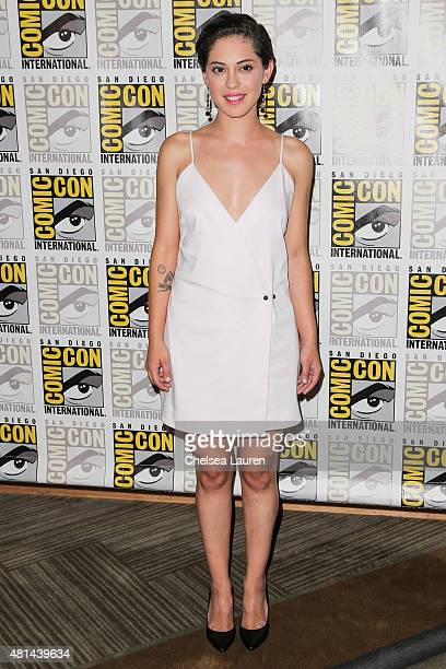 Actress Rosa Salazar arrives at the 'Maze Runner' press room on July 11 2015 in San Diego California