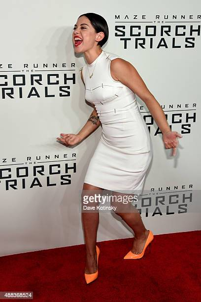 Actress Rosa Salazar attends Maze Runner The Scorch Trials New York Premiere at Regal EWalk on September 15 2015 in New York City