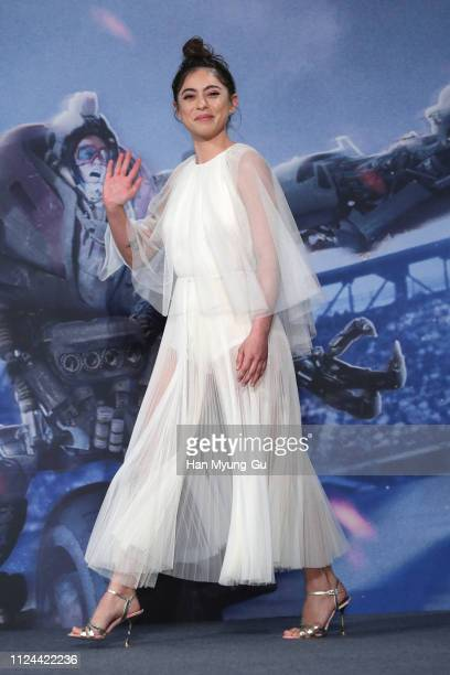 Actress Rosa Salazar attends the press conference for 'Alita Battle Angel' South Korea premiere on January 24 2019 in Seoul South Korea