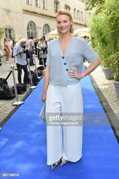 Actress Rosalie Thomass attends the FFF reception during the Munich Film Festival 2018 at Praterinsel on July 5 2018 in Munich Germany