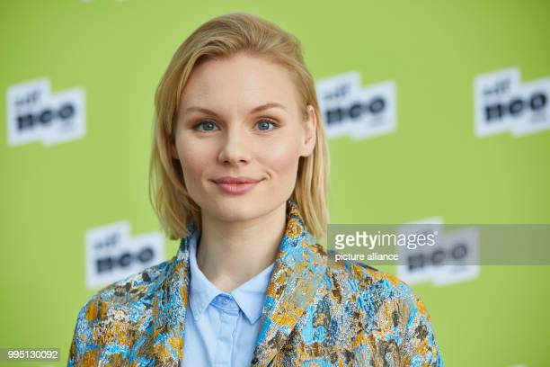 Actress Rosalie Thomass photogrpahed during a photo call for the ZDFneo productions 'Bruder Schwarze Macht' and 'Lobbyistin' at the ZDF regional...