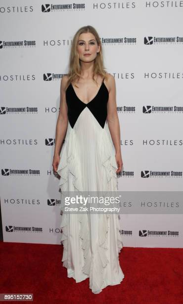 Actress Rosamound Pike attends the 'Hostiles' New York Premiere at Metrograph on December 18 2017 in New York City