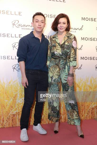 Actress Rosamund Kwan Chi-lam attends the 20th anniversary event of fashion brand Moiselle on April 6, 2017 in Hong Kong, China.