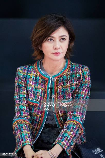 Actress Rosamund Kwan Chilam attends the rehearsal of Rosamund MOISELLE show during the Shanghai Fashion Week Spring/Summer 2018 on October 10 2017...