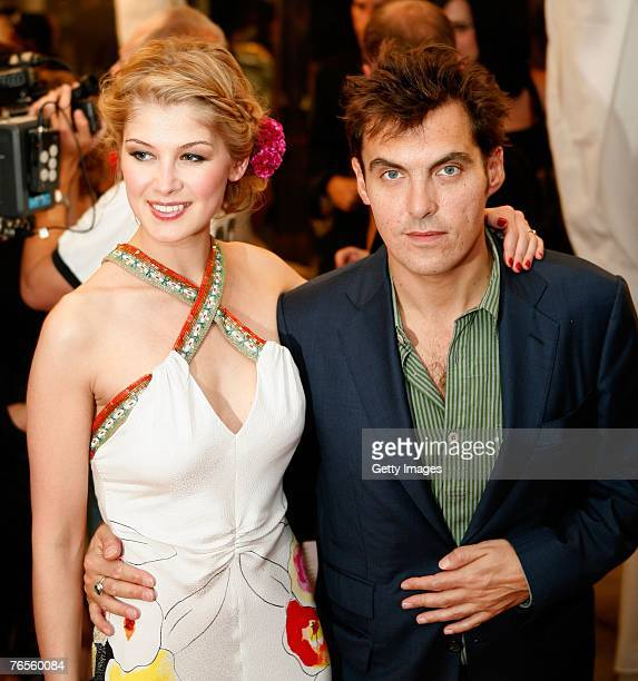 Actress Rosamund Pike and Director Joe Wright arrive at the Toronto International Film Festival opening night gala presentation of Fugitive Pieces...