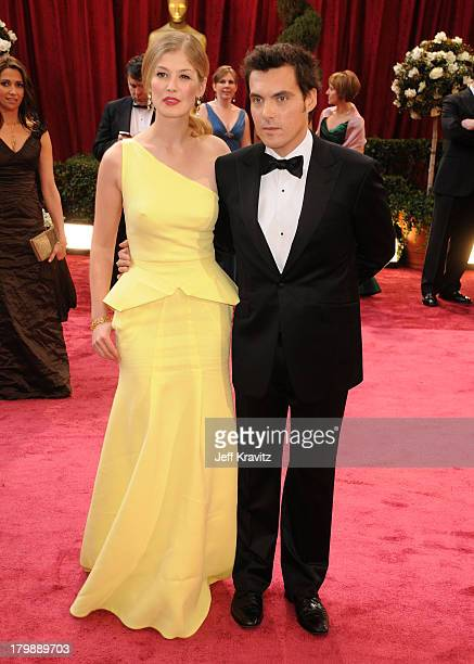 Actress Rosamund Pike and Director Joe Wright attend the 80th Annual Academy Awards at the Kodak Theatre on February 24 2008 in Los Angeles California