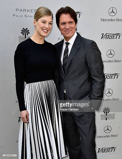 Actress Rosamund Pike and Director Rob Marshall attend Variety's Creative Impact Awards and '10 Directors To Watch' brunch presented by Mercedes Benz...