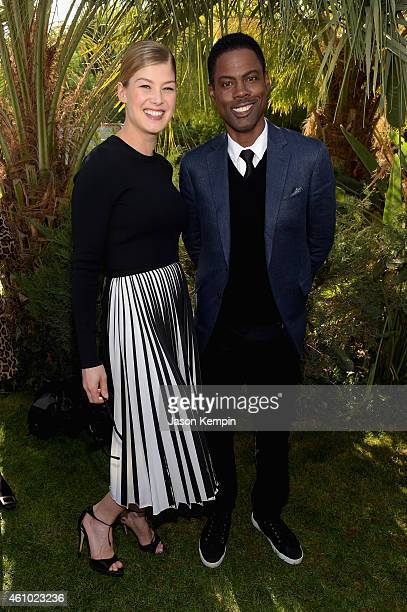 Actress Rosamund Pike and honoree Chris Rock attend Variety's Creative Impact Awards and 10 Directors To Watch brunch presented by Mercedes Benz at...