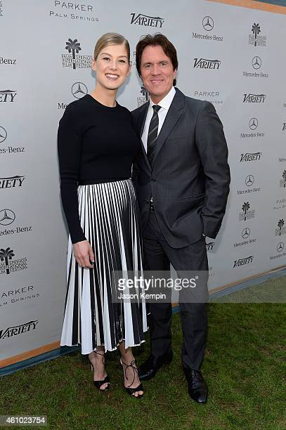 Actress Rosamund Pike and honoree Rob Marshall attend Variety's Creative Impact Awards and 10 Directors To Watch brunch presented by Mercedes Benz at...