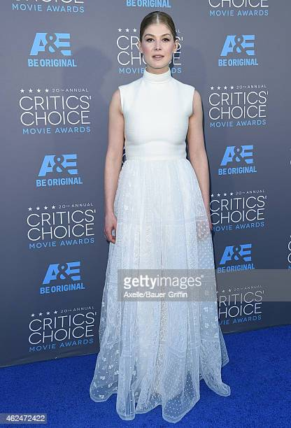 Actress Rosamund Pike arrives at the 20th Annual Critics' Choice Movie Awards at Hollywood Palladium on January 15 2015 in Los Angeles California