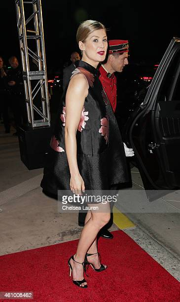 Actress Rosamund Pike arrives with MercedesBenz at the 26th annual Palm Springs International Film Festival Awards Gala on January 3 2015 in Palm...