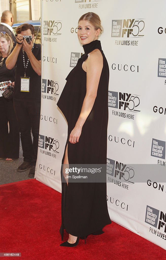 Actress Rosamund Pike attends the 52nd New York Film Festival Opening Night Gala Presentation and World Premiere Of 'Gone Girl' at Alice Tully Hall on September 26, 2014 in New York City.