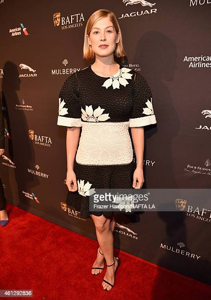 Actress Rosamund Pike attends the BAFTA Los Angeles Tea Party at The Four Seasons Hotel Los Angeles At Beverly Hills on January 10, 2015 in Beverly...