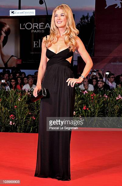 Actress Rosamund Pike attends the Barney's Version premiere during the 67th Venice Film Festival at the Sala Grande Palazzo Del Cinema on September...