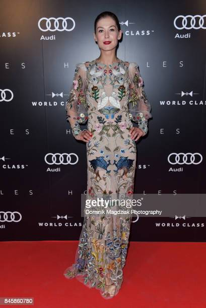 Actress Rosamund Pike attends the Diageo World Class Canada and Audi 'Hostiles' premiere party during the 2017 Toronto International Film Festival at...