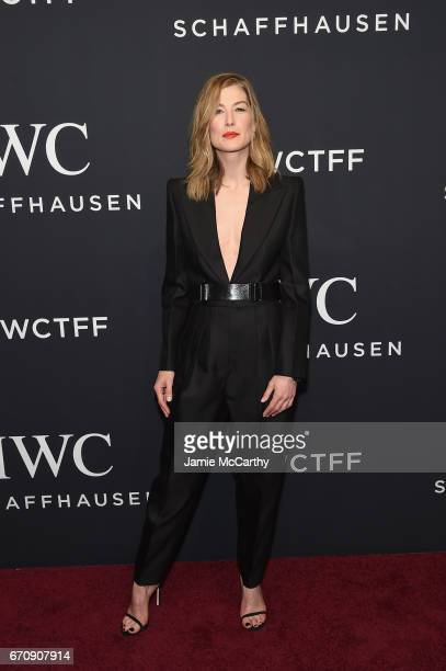 Actress Rosamund Pike attends the exclusive gala event 'For the Love of Cinema' during the Tribeca Film Festival hosted by luxury watch manufacturer...