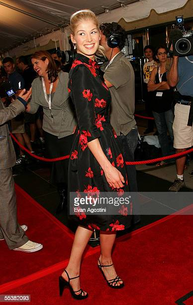Actress Rosamund Pike attends the gala premiere of Pride Prejudice at Roy Thomson Hall during the Toronto International Film Festival on September 11...