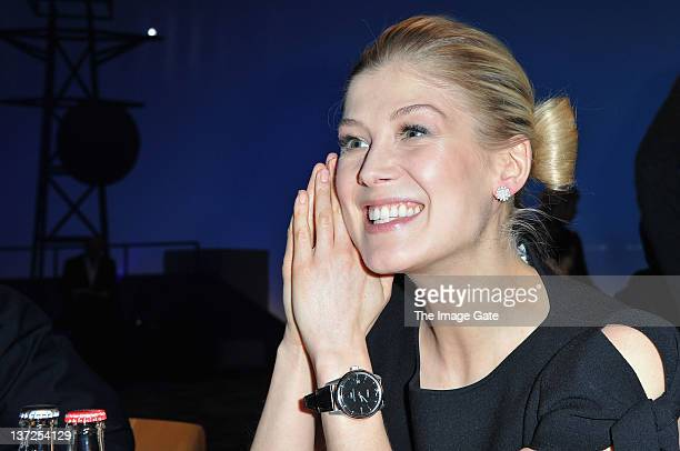 Actress Rosamund Pike attends the IWC Schaffhausen Top Gun Gala Event during the 22nd SIHH High Jewellery Fair at the Palexpo Exhibition Hall on...