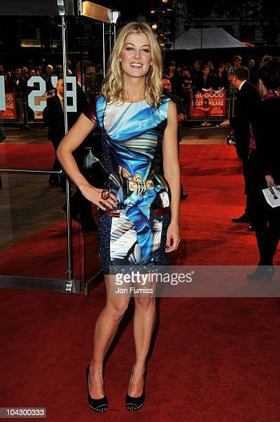 Actress Rosamund Pike attends the Made in Dagenham world premiere at the Odeon Leicester Square on September 20 2010 in London England