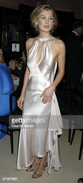 Actress Rosamund Pike attends the Royal Court Theatre's 50th anniversary party at Titanic on April 26 2006 in London England