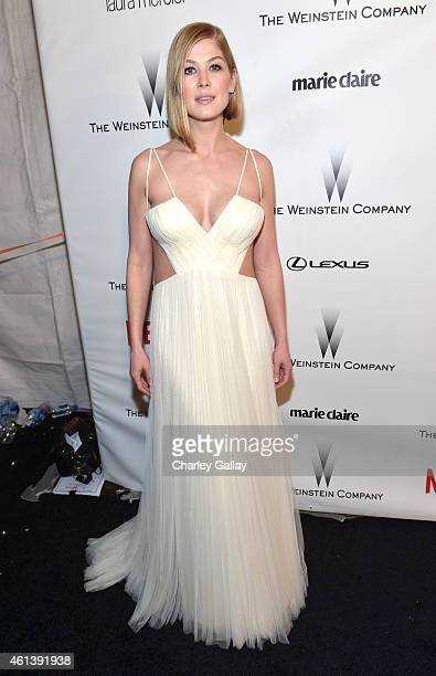 Actress Rosamund Pike attends The Weinstein Company Netflix's 2015 Golden Globes After Party presented by FIJI Water Lexus Laura Mercier and Marie...
