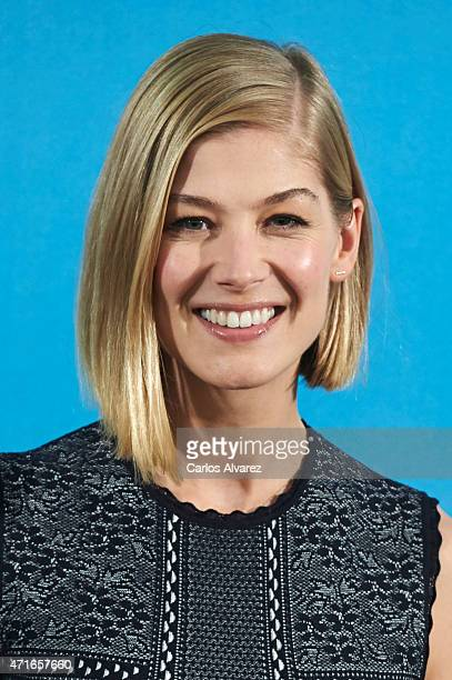 Actress Rosamund Pike attends 'What We Did On Our Holiday' photocall at the Intercontinental Hotel on April 30 2015 in Madrid Spain