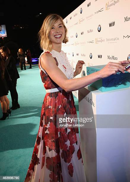 Actress Rosamund Pike attends Women In Film PreOscar Cocktail Party presented by MaxMara BMW Tiffany Co MAC Cosmetics and PerrierJouet at Hyde Sunset...