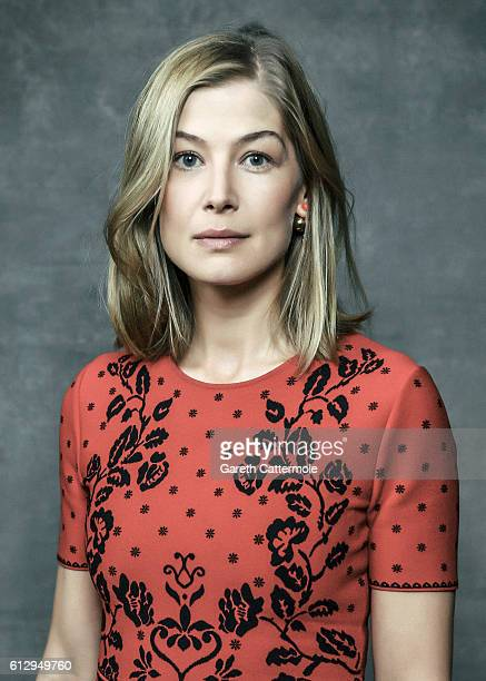 Actress Rosamund Pike is photographed during the 60th BFI London Film Festival at The Mayfair Hotel on October 5 2016 in London England