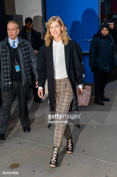 Actress Rosamund Pike is seen in Soho on February 6 2017 in New York City