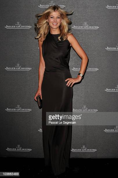 Actress Rosamund Pike Rosamund Pikeattends the Jaeger LeCoultre Party during the 67th Venice Film Festival at the Teatro alle Tese on September 7...