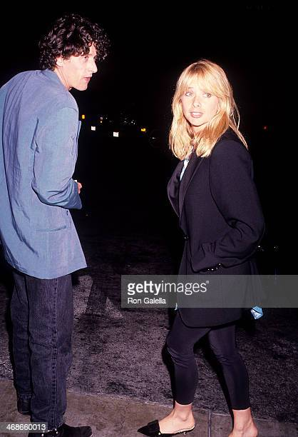 Actress Rosanna Arquette and boyfriend Paul Buchanan on September 10 1991 dine at Spago in West Hollywood California